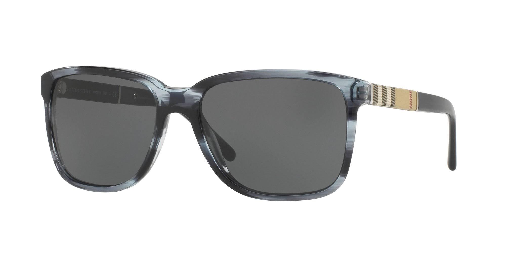 Be 4181 Bluegrey Burberry Striped Sunglasses Rj5q34AL