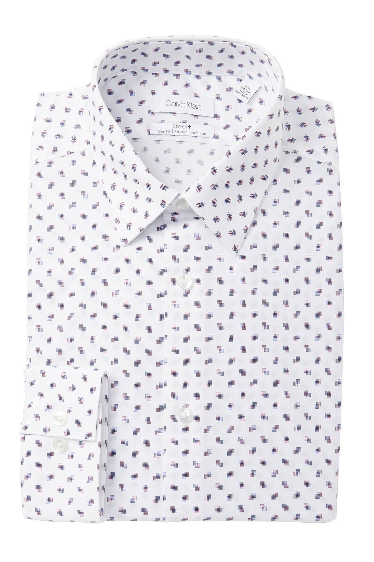 Calvin Corte Vestir Klein Para Elástico Plancha Sin De Hombre Ajustado Y Con Camisa rqrxwtfv