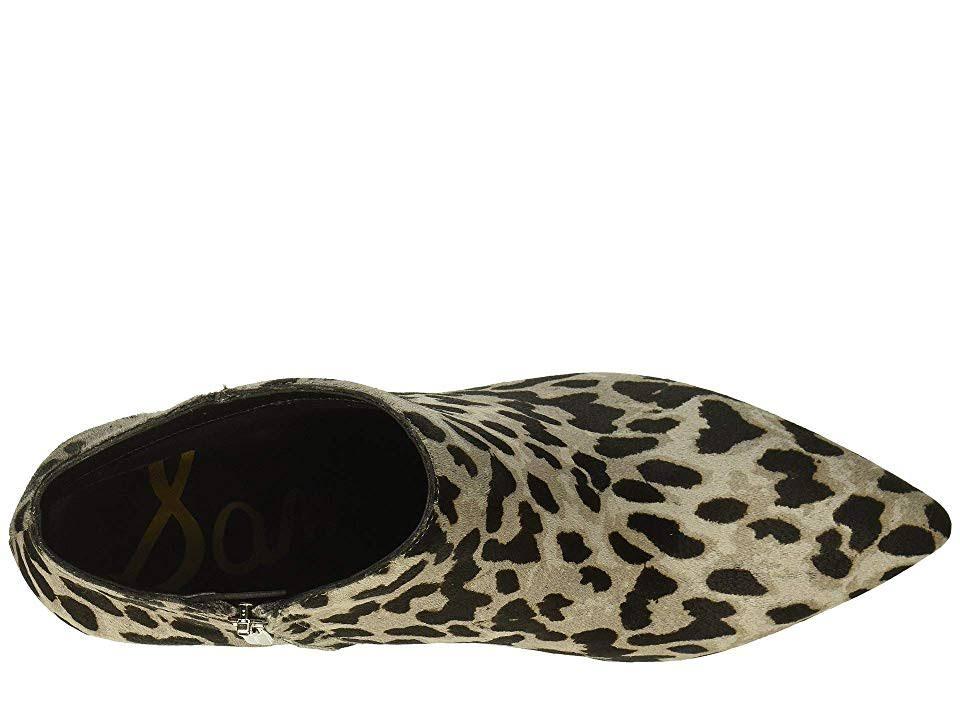 Brahma Grey Kinzey Kitten Edelman Sam Leopard Bootie Heel 5wqg06nxFX