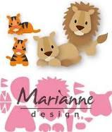 Marianne Design Collectables Cutting Dies - Eline's Lion/Tiger COL1455