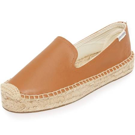 Tan 9 Soludos Smoking Platform Leather Slippers wIXz7I