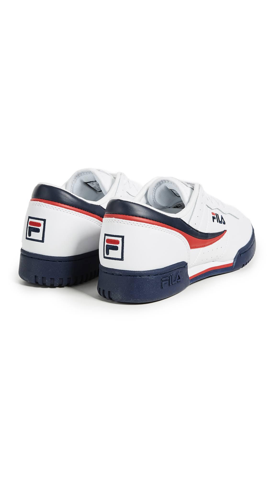 Oryginalna 150 Sneaker Classic 11f16lt Lea Biała Męska Fila Fitness Granatowa qvtS6