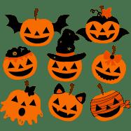 Etsy - Calabazas de Halloween - imágenes prediseñadas y Vector Set - descarga inmediata - uso Personal y comercial