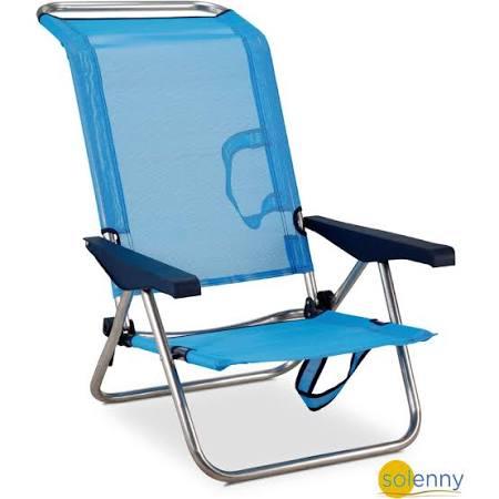 Silla Playera-Cama 4 posiciones Solenny Azul con Asas | Google Shopping
