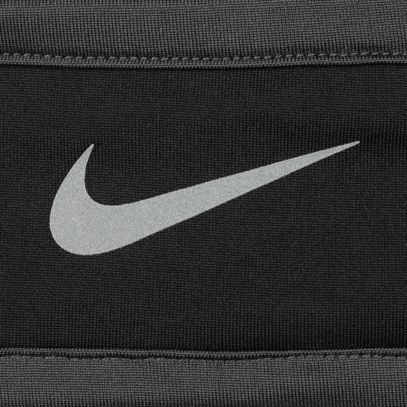 Nike Run-Dry Headband and Gloves Set Black Grey Silver