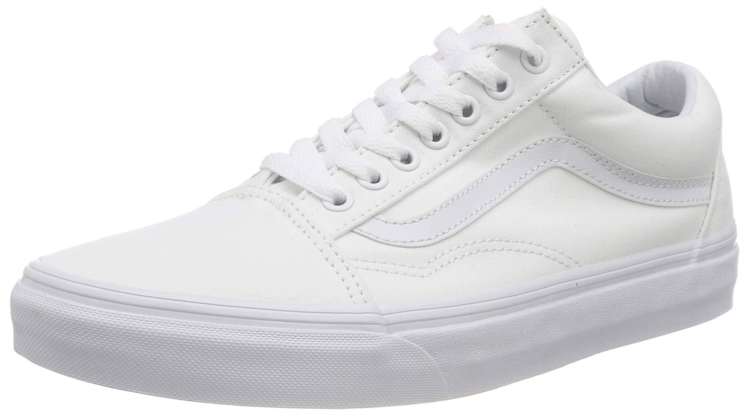 Old Shoes Size Vans Canvas Skool Men's White 9 5 wExHOIFq