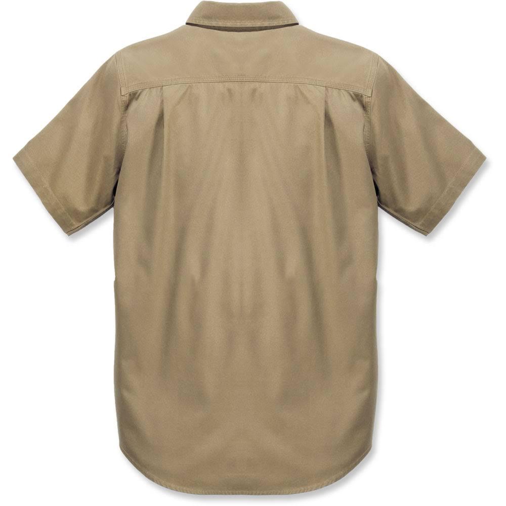 Rigby Khaki Kurzarm Beige Xxl Carhartt Rugged Flex Herren Shirt Dunkel zHwREq