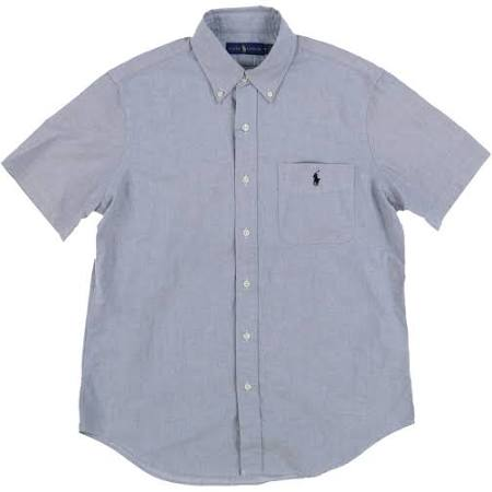 Grau Pocket Oxford Kurzärmliges x Hemd Herren large Ralph Lauren qx8wtaTq6