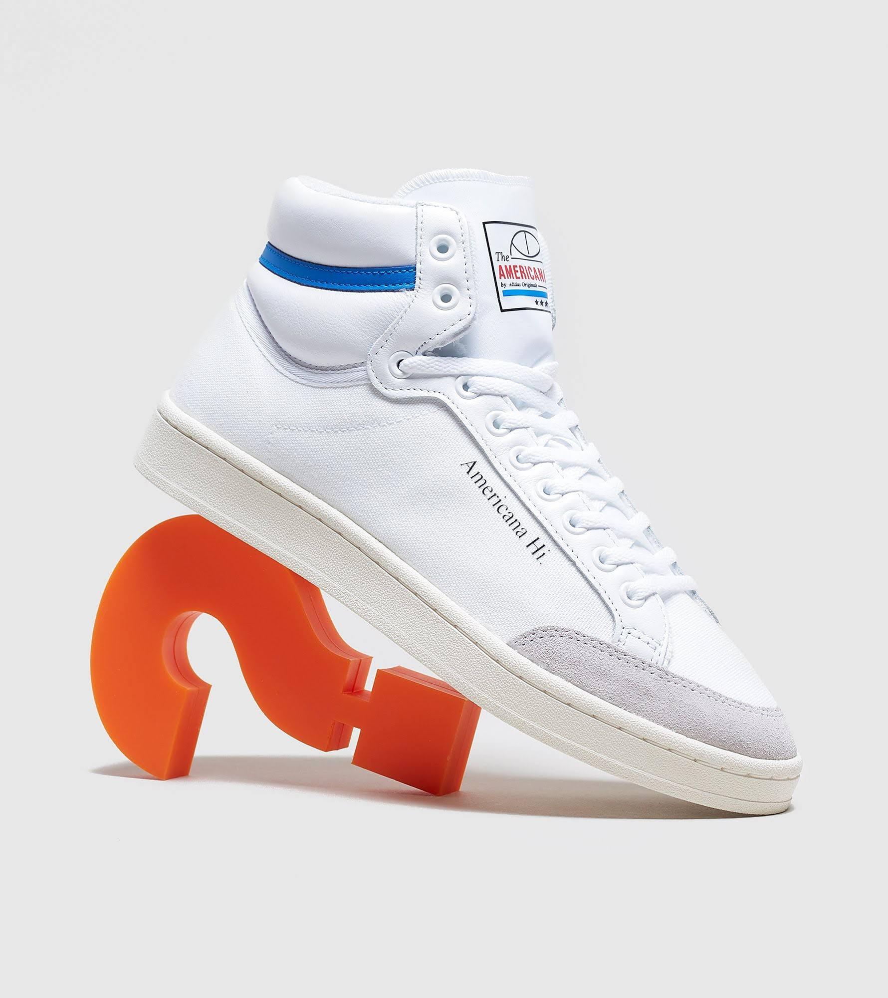 Mens Adidas Originals Americana Hi - White/Blue - 8.5