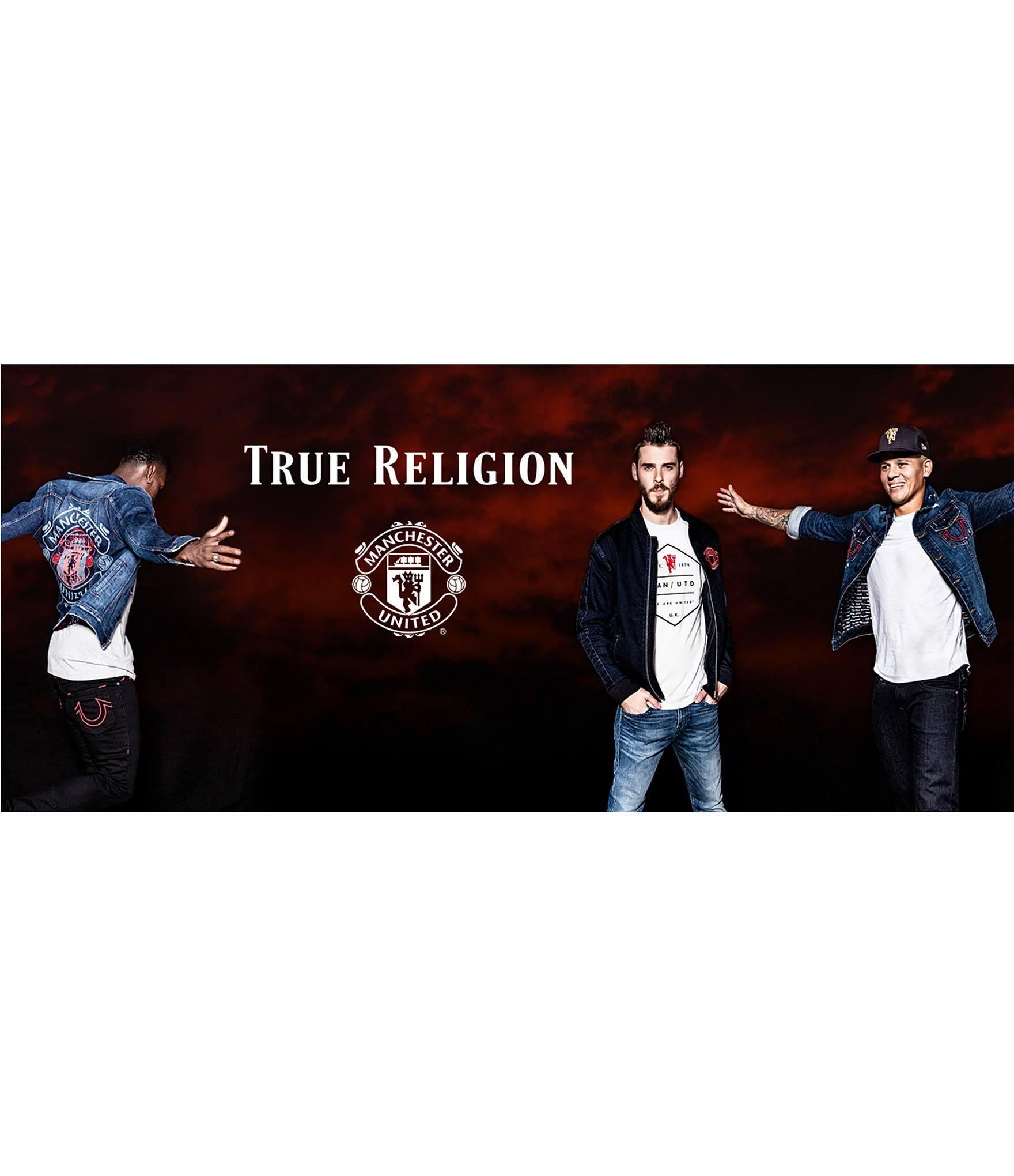 Indigo La Del Cazadora Religion Bomber M Manchester Fywd United Denim De True Colección OwxBE4xP