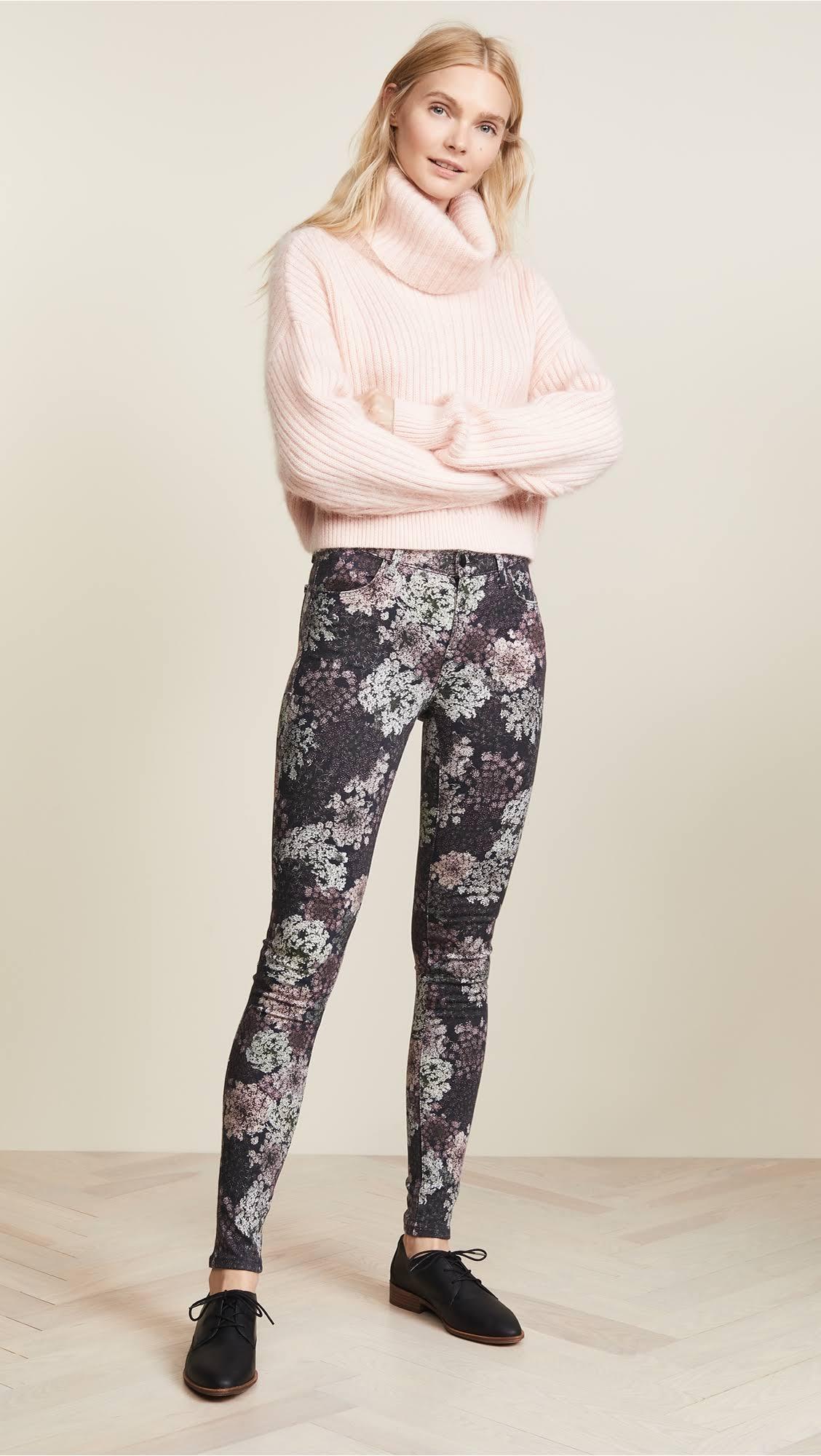 26 De Pour Skinny Jean Fleurs À Femmes J Imprimé Brand Haute Taille 620 Super OqYpYwT