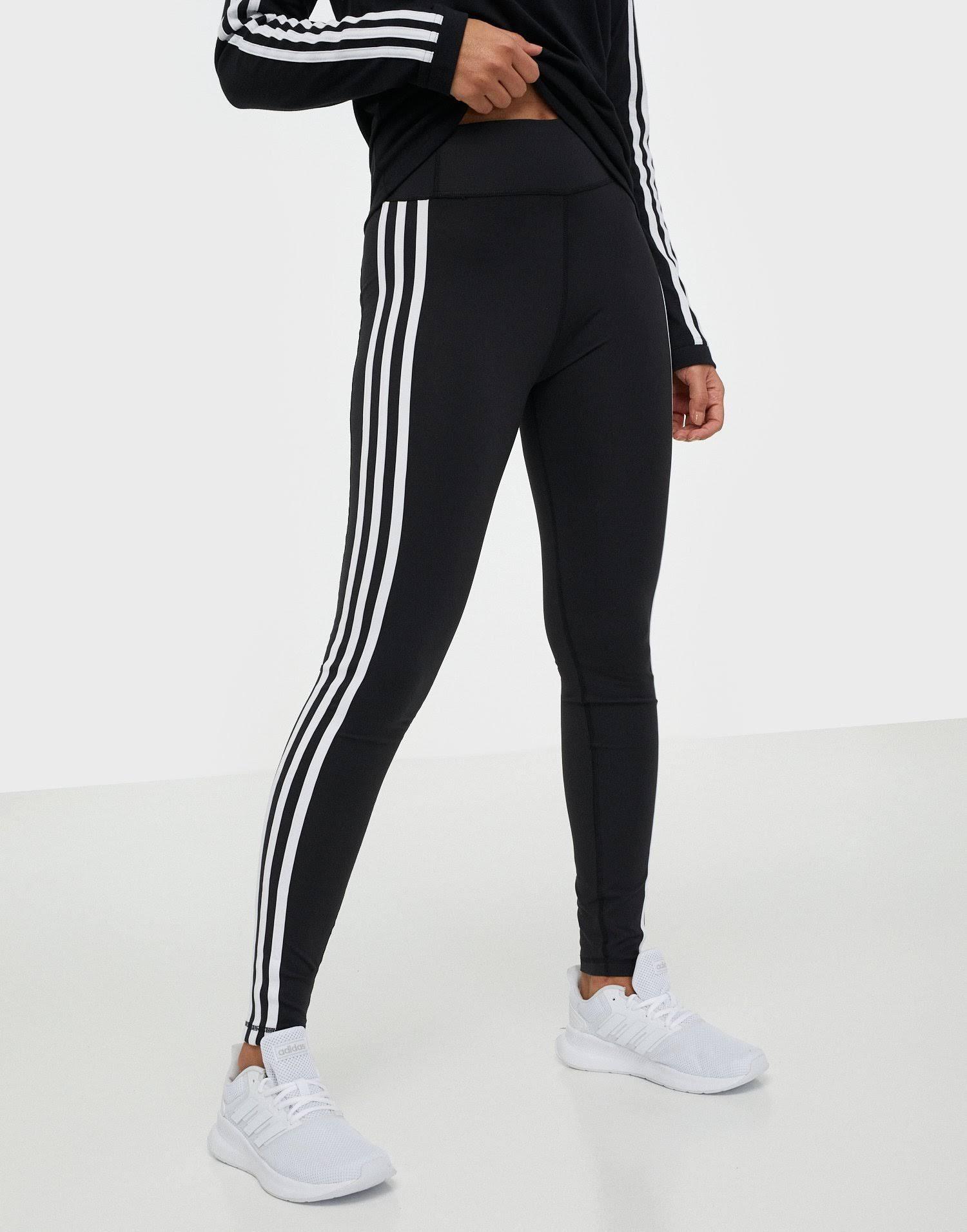 Adidas Performance Pulse Long Regular Rise 3 Stripes Tight Leggings