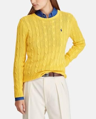 Camiseta Las Cabo Ralph A Mujer De Malla Lauren Del Polo Amarillo Rayas xTwqU6C