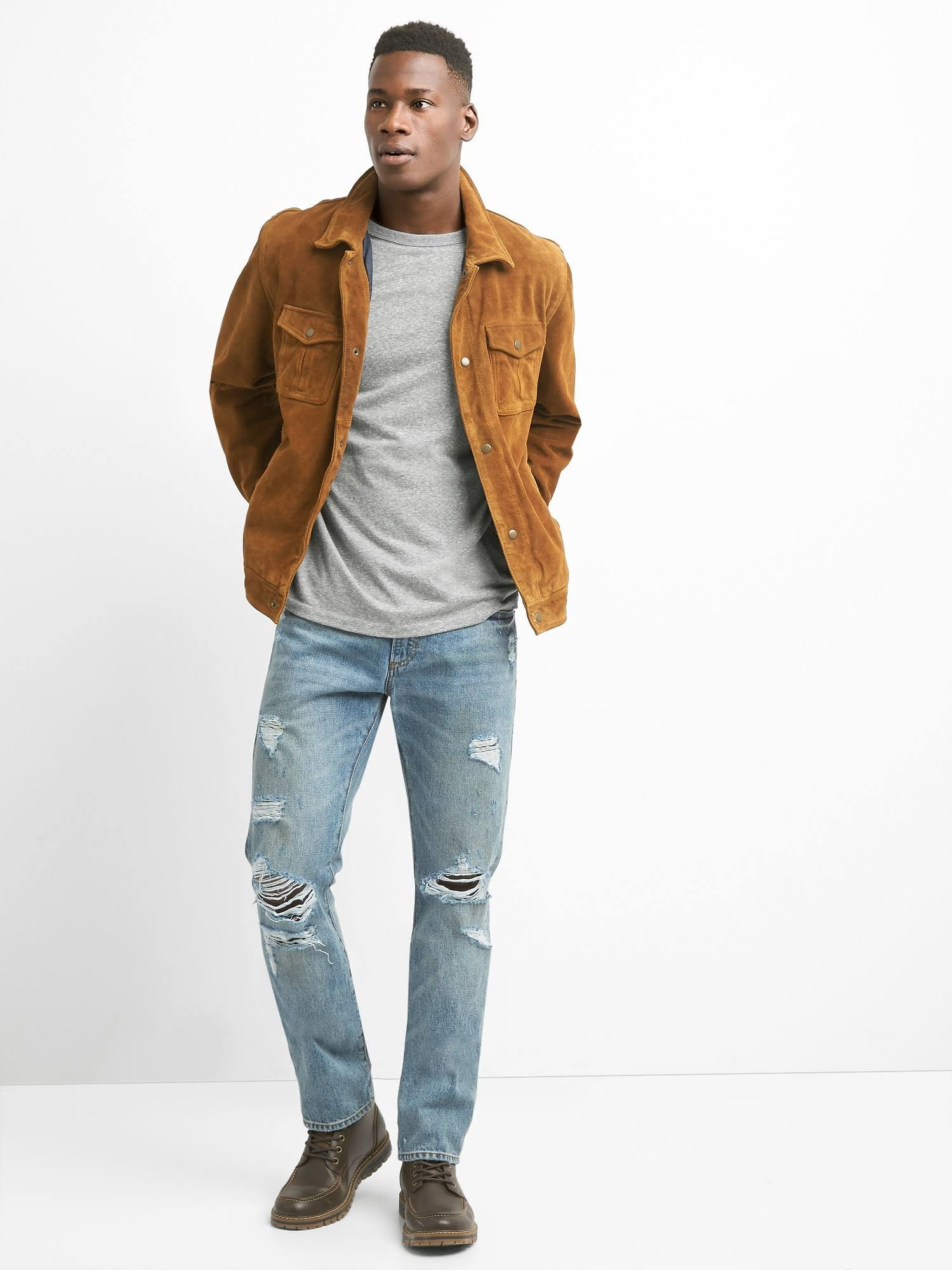 Gamuza Camel Gap Camisa Xs Color Para Hombre De Talla Clásico 57n61p