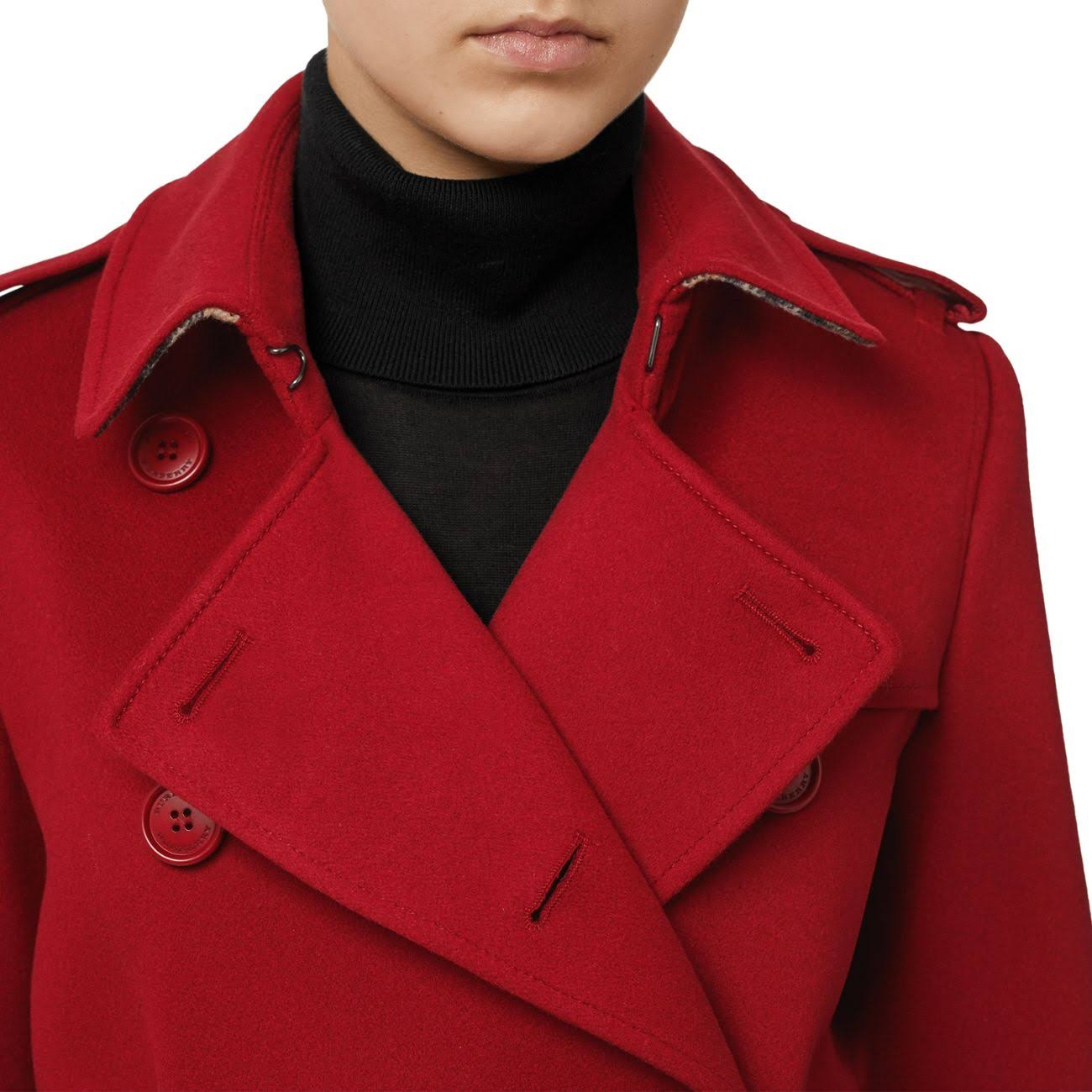 Burberry Coat Trench Cashmere Rojo 00 Tamaño xr6604qwU8