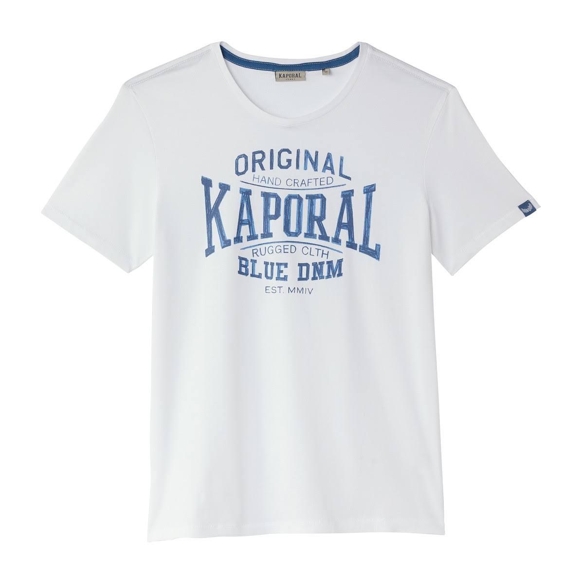 Kaporal Redonda De Brisk Camiseta Blanco Mangas Gola Cortas HqSRwH1