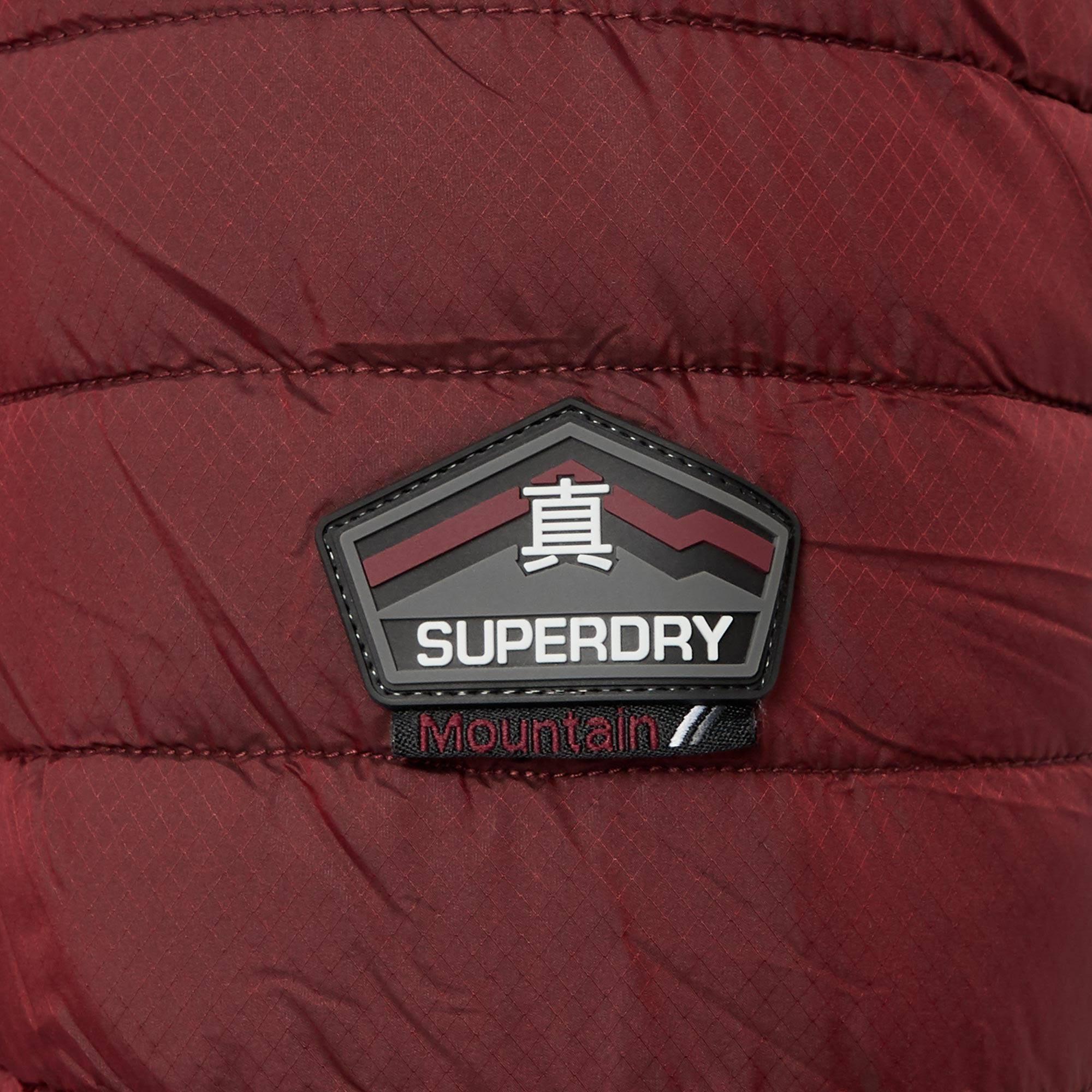 L Rojo Oscuro Doble Zip Fuji Superdry YZ7gFF