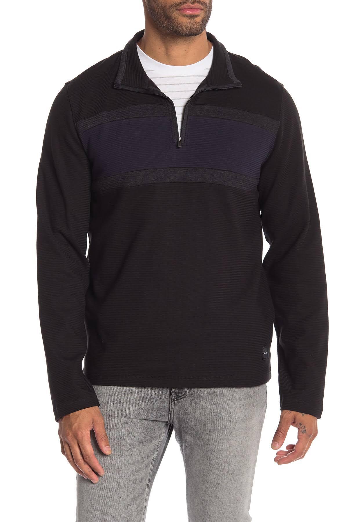 Calvin Hombres Negro Color Klein Para Pullover Rayas En Con qOwBxqRrA