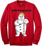 Snowtorious - Ugly Christmas Sweater (Red)