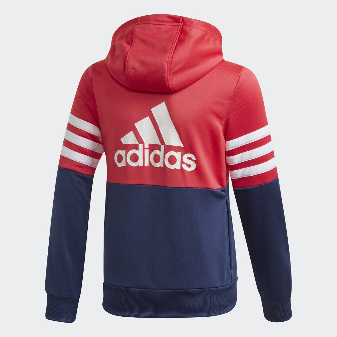 Adidas Hooded Girls Track Suit Colour: Pink, Size: 11-12 years  acI1kHE