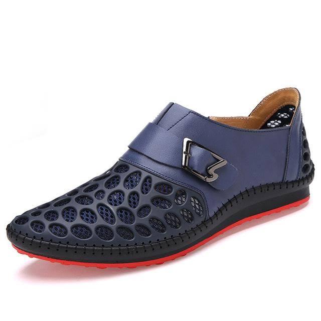Lujo Respiración Hombre De Hombres Zapatos Costbuys Marca Para Casual Pisos Verano Ocio Piel Nuevos Genuina 9 5 Azul d8q7wYzq