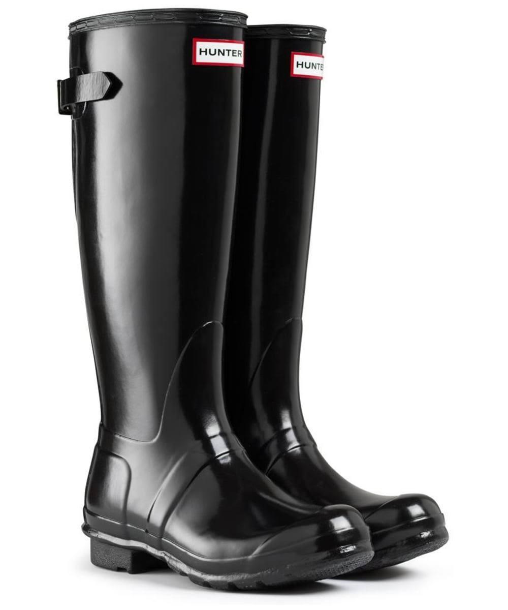 Stivali pioggia lucidi da posteriori neri regolabili originali donna da Hunter kPNnw0O8XZ
