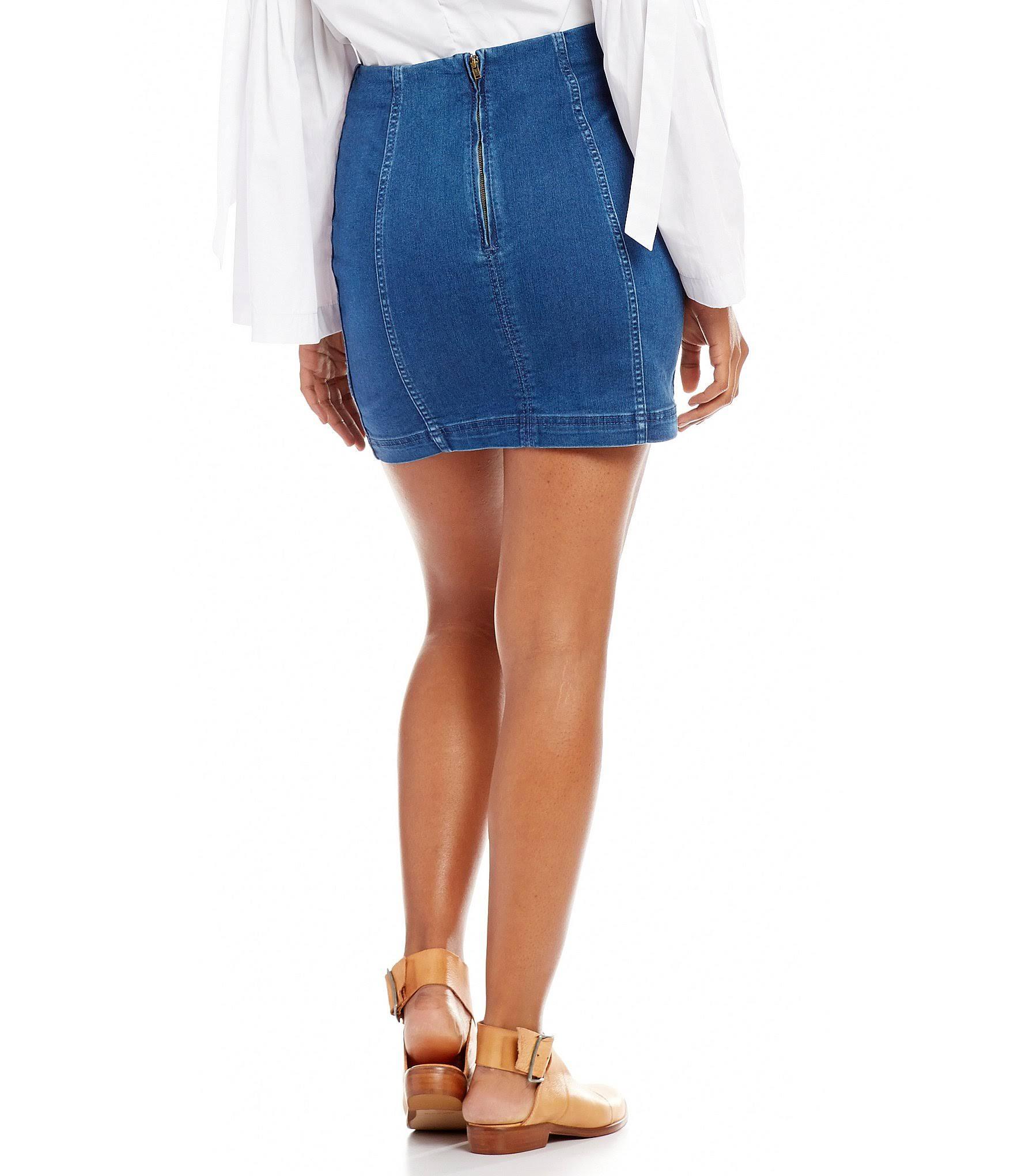 2 Skirt Modern Mini Femme Denim Free People Dark TqwU00