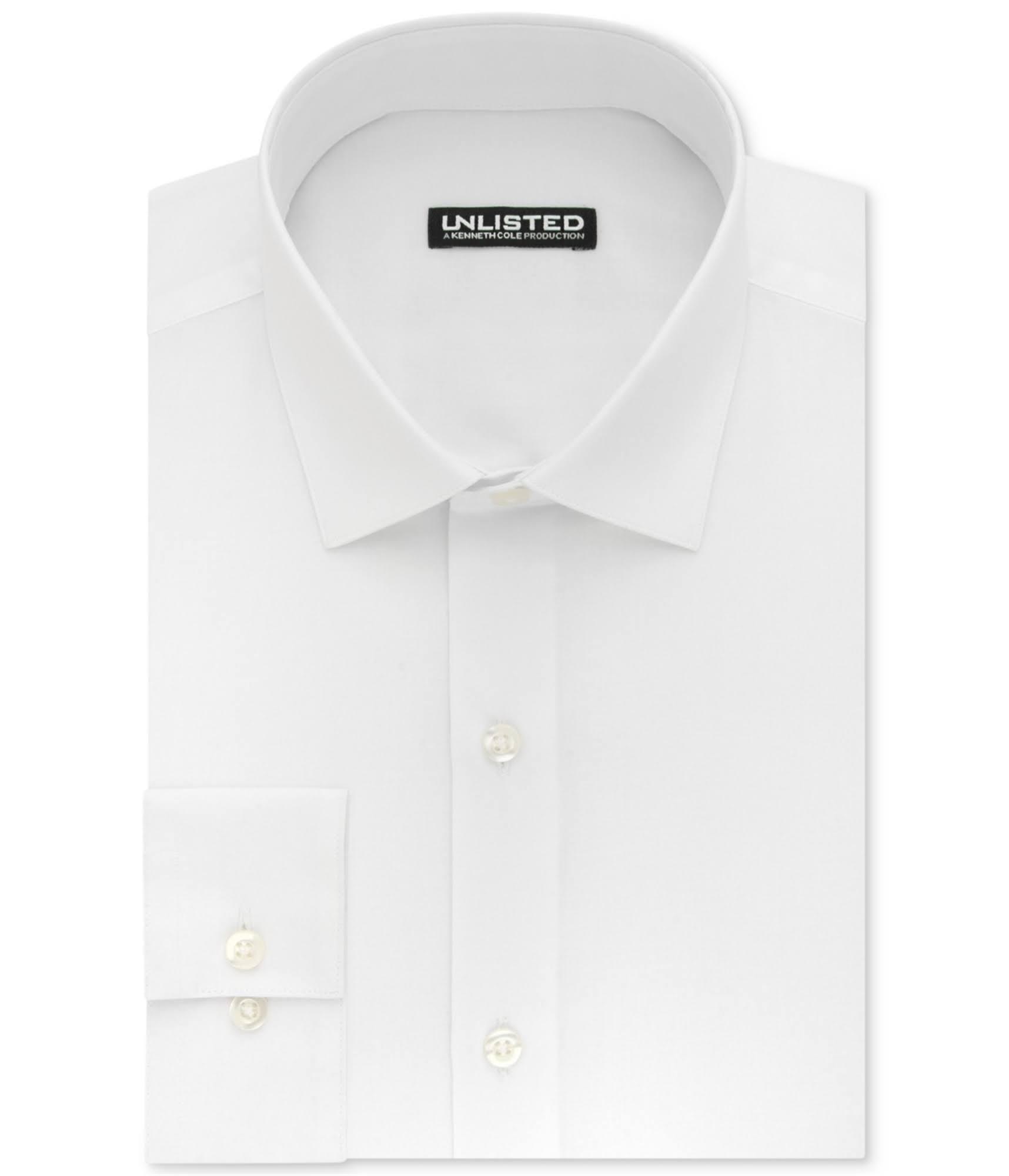 Solid Kenneth Camisa Slim De White Cole Hombre Fit Para Vestir Unlisted zUqw7TrBz