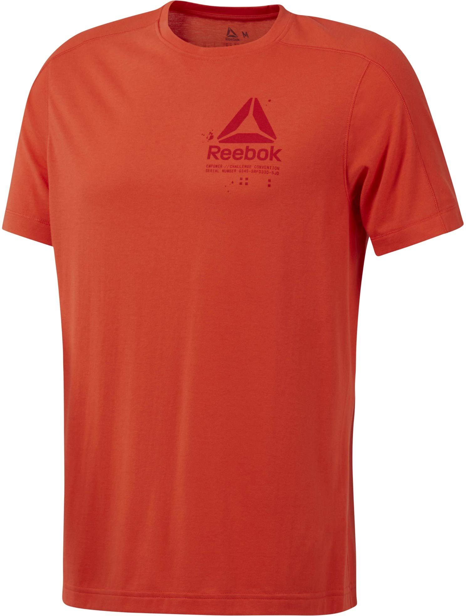 Sport S muzi Oranžová Graphic Trička Tee Krátkým Speedwick Rukávem Reebok PqSawx66