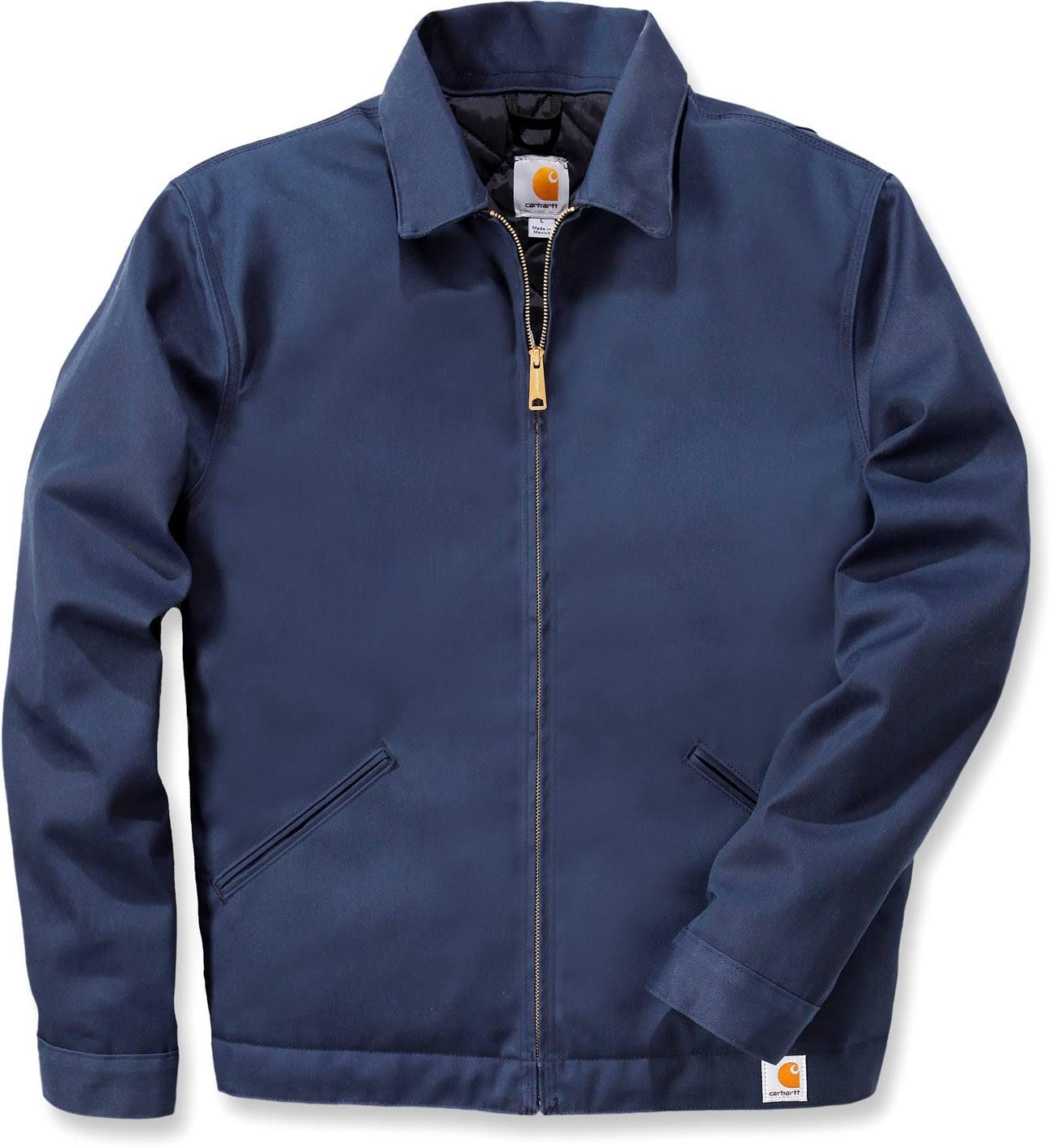 Recubierto Con Abrigo Hombre Trabajo Sarga Carhartt Marino De Azul Chaqueta Nylon Ajustable Para Forro aqxZ8