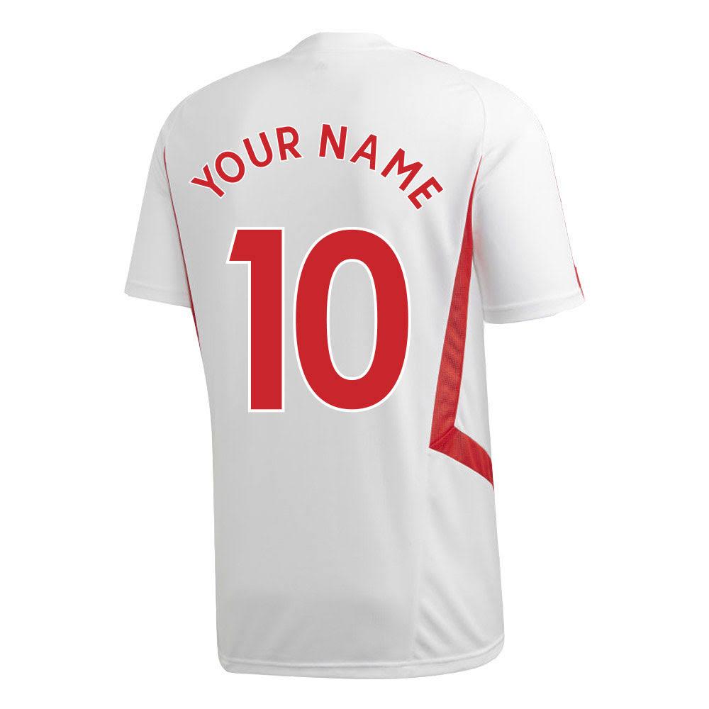2019-2020 Arsenal Adidas Training Shirt (White) (Your Name)
