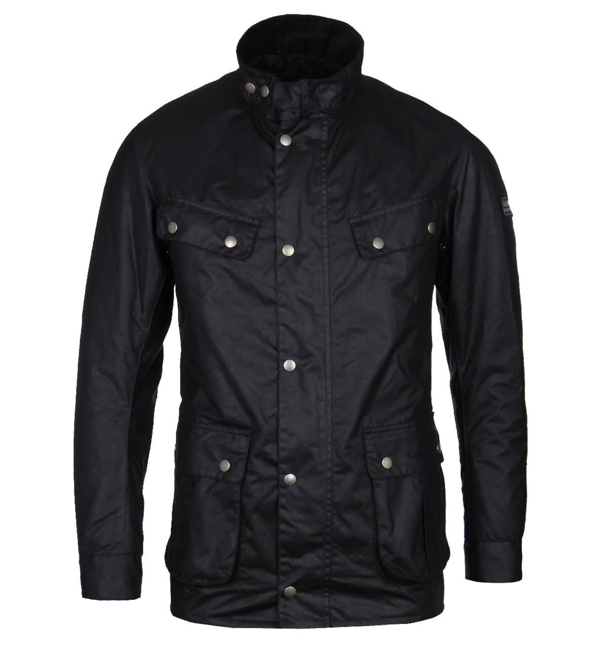 Barbour Mwx0337bk91 Waxed Jacket Duke Mens International Schwarz 6gwqP6