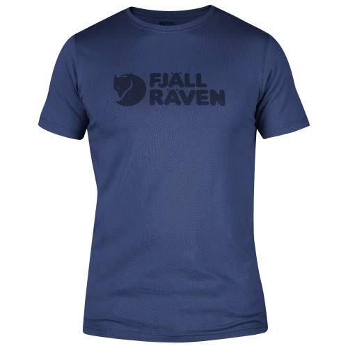 Camiseta Logo Azul Fjallraven Profundo Con Manga Corta De RqrzR
