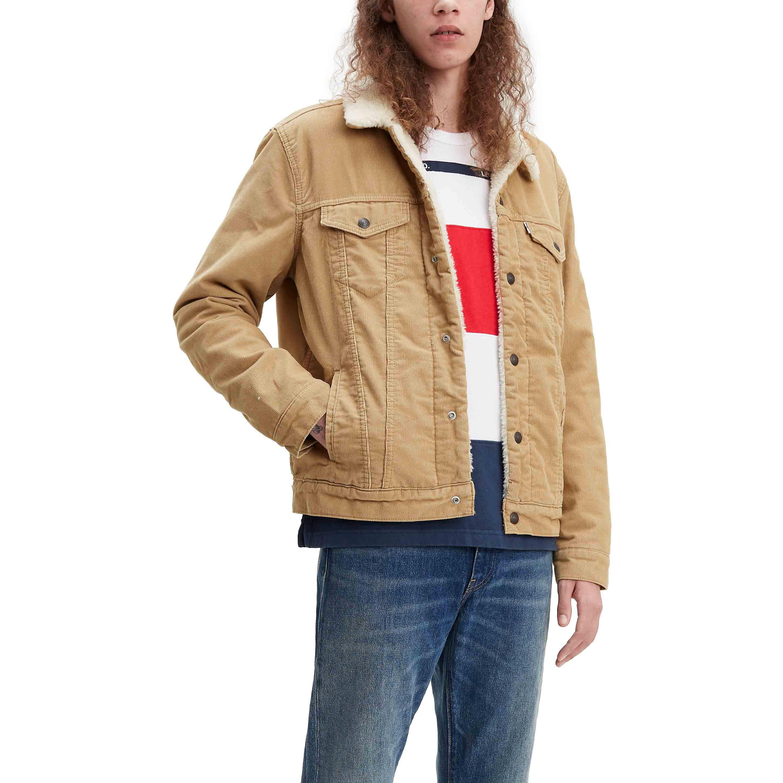 2xl Jacket Para Chino Levi's Trucker Corduroy True Sherpa Hombre HEnzYz0q