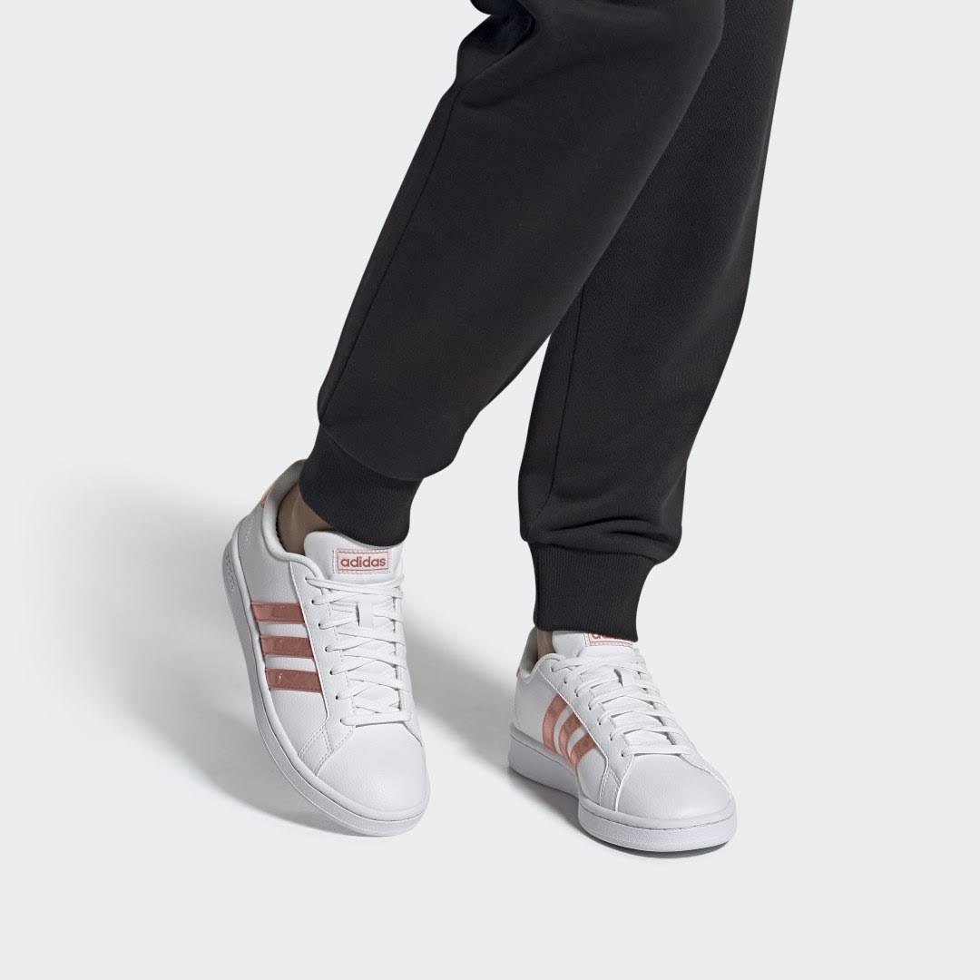 Adidas Grand Court Donna White Ash Pink  XEj6d2