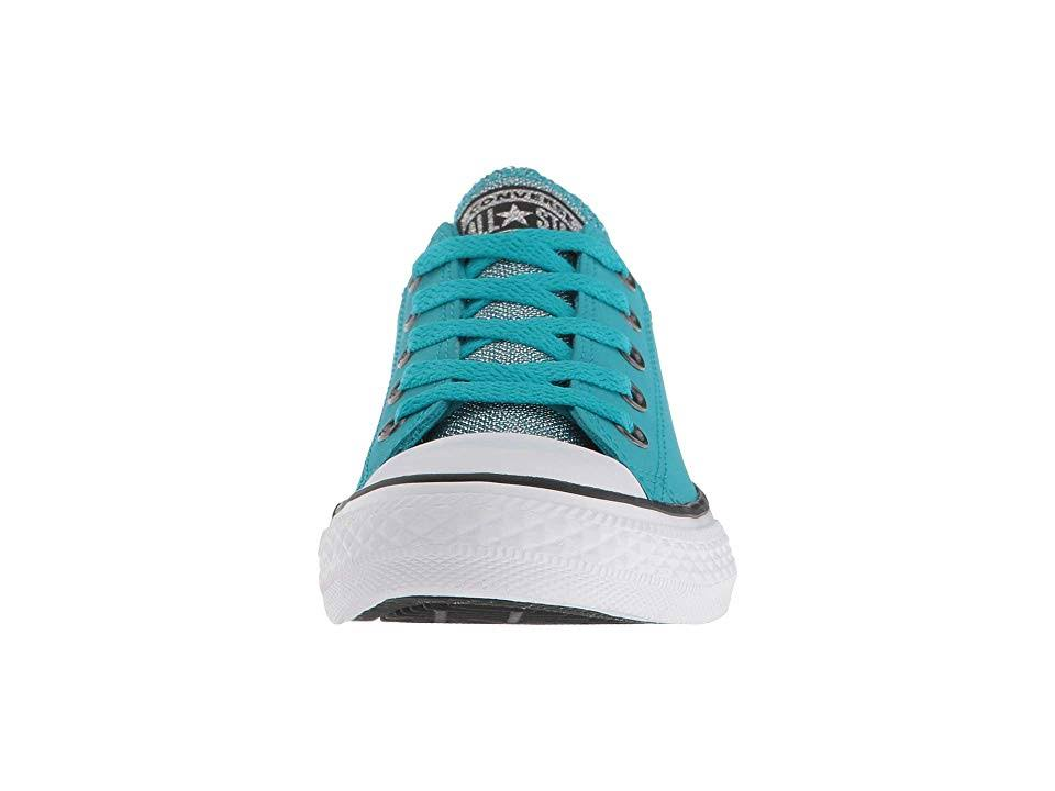 Star Taylor All Chuck black Big Converse Girl's Ox Glitter Teal 5 5 white Kid little Kid Kids big Kid Shoes M Rapid 5tIgE