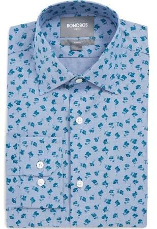 Azul Floral De Fit Slim Vestir Camisa Bonobos En WcaU6v0n