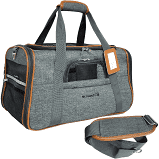 Mr. Peanut's Airline Approved Soft Sided Pet Carrier - Luxury Travel Tote with Premium Self Locking Zippers - Plush Faux Fleece Bedding with a