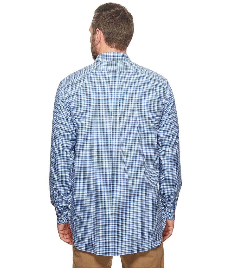 Lauren Azul Camisa Botones Polo Cuadros Blanco Grandes Y Elásticos Con Altos A Ralph PR5REqw