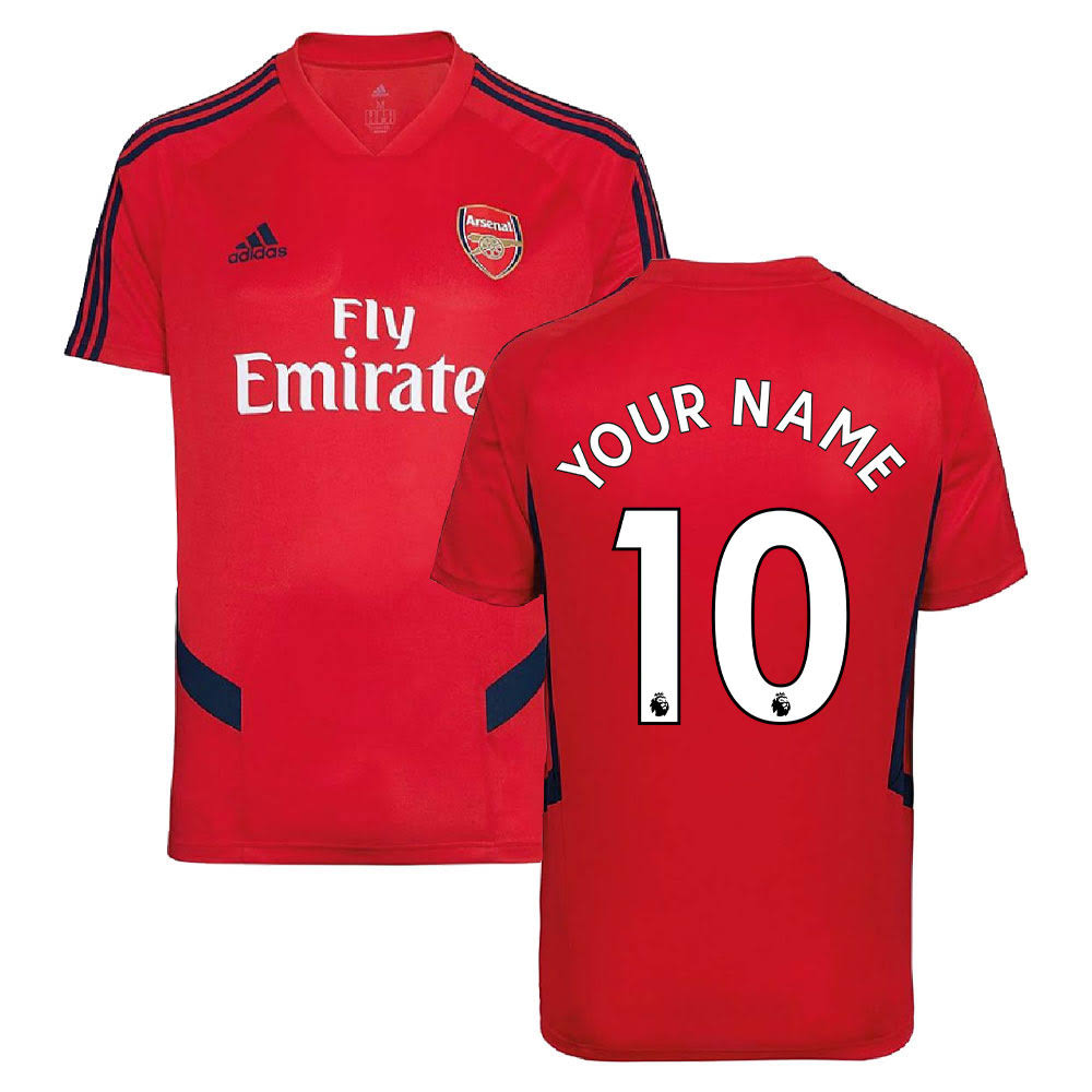 2019-2020 Arsenal Adidas Training Shirt (Red) (Your Name)