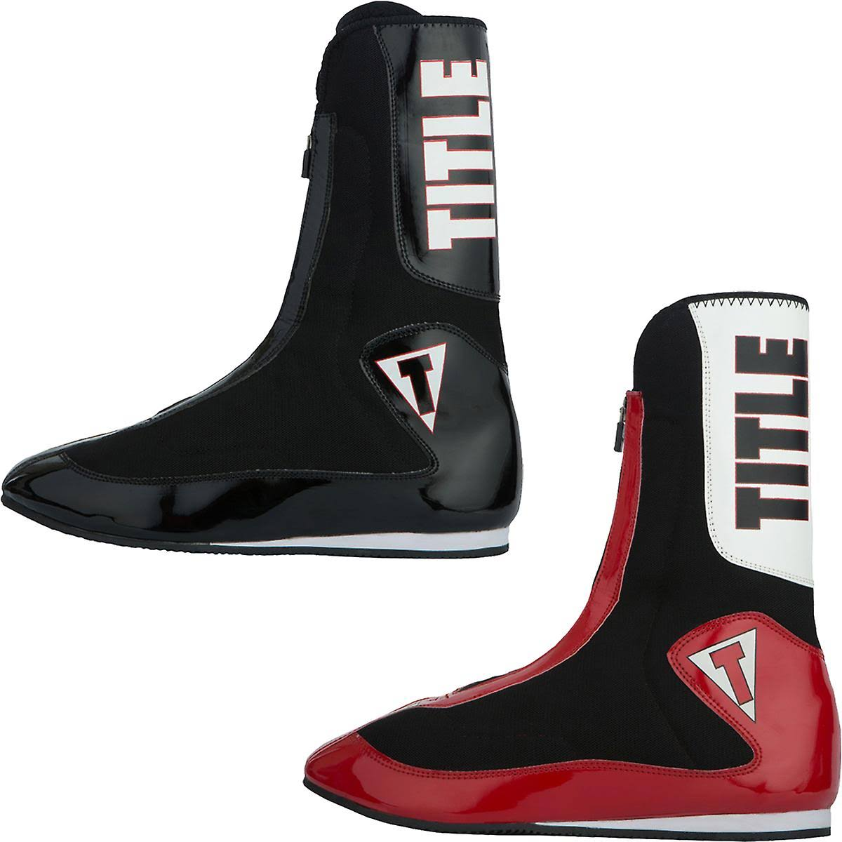 Title Boxing Elevate Enrage Lightweight Tall Boxing Shoes Black/Black 7.5