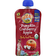 Earth's Best Organic Baby Food Puree, Pumpkin Cranberry Apple, Stage 3 (9+ Months) - 4.2 oz pouch