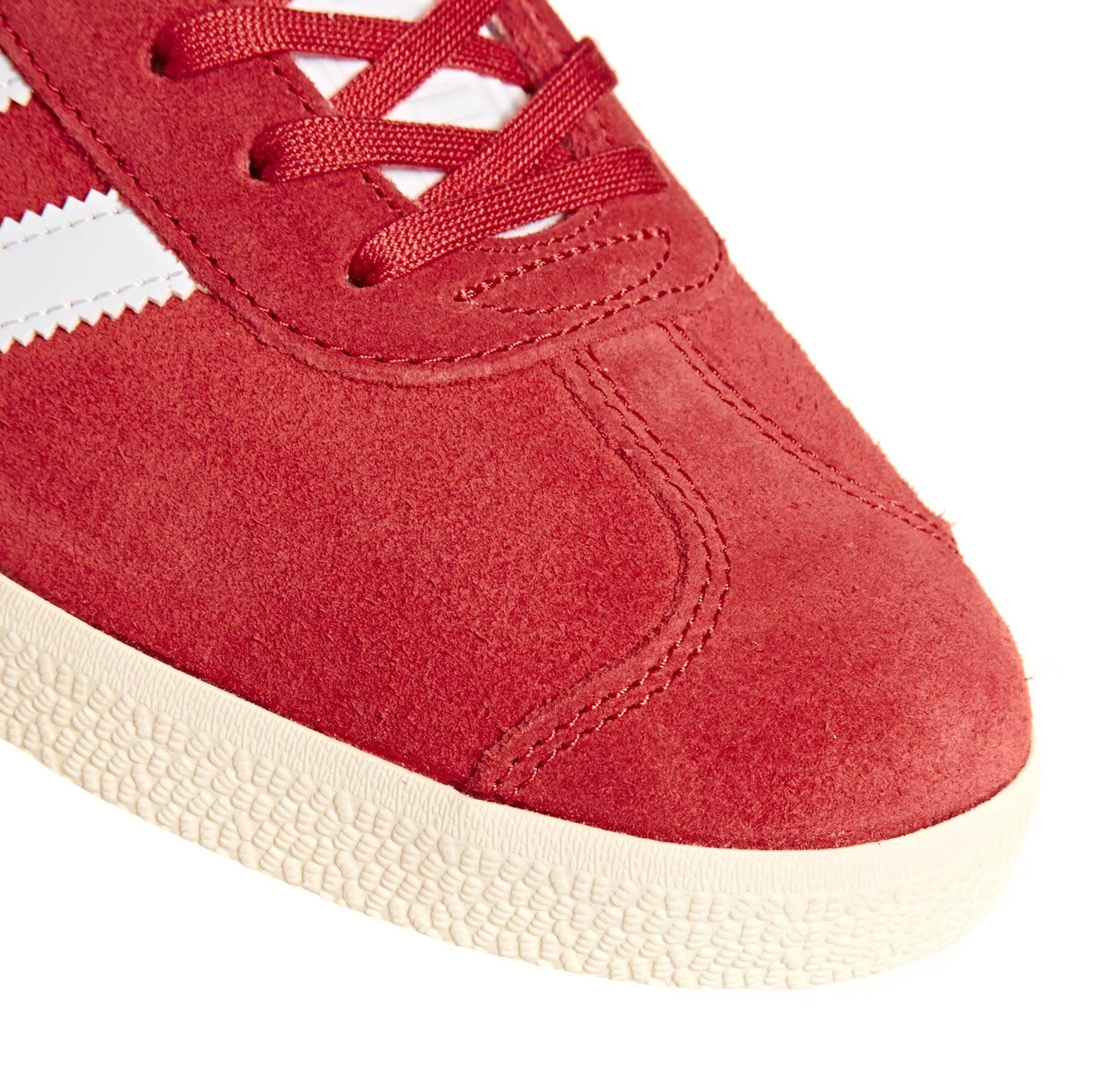 B37944 Gazelle Adidas Originals Red Sneakers In Suede zT4zx0