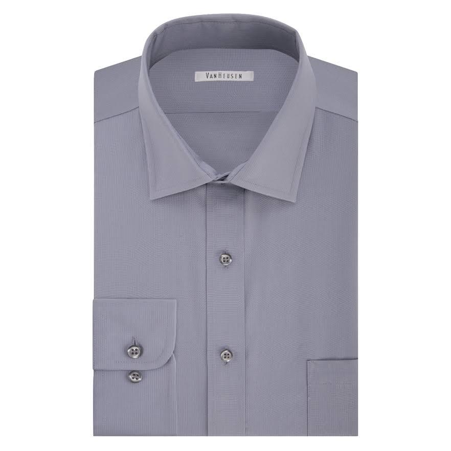 32 Para 5 Vestir Tamaño Heusen Hombre 16 Flex De Van 33 Camisa Gris Corte Pincord Regular Ogq8pAw