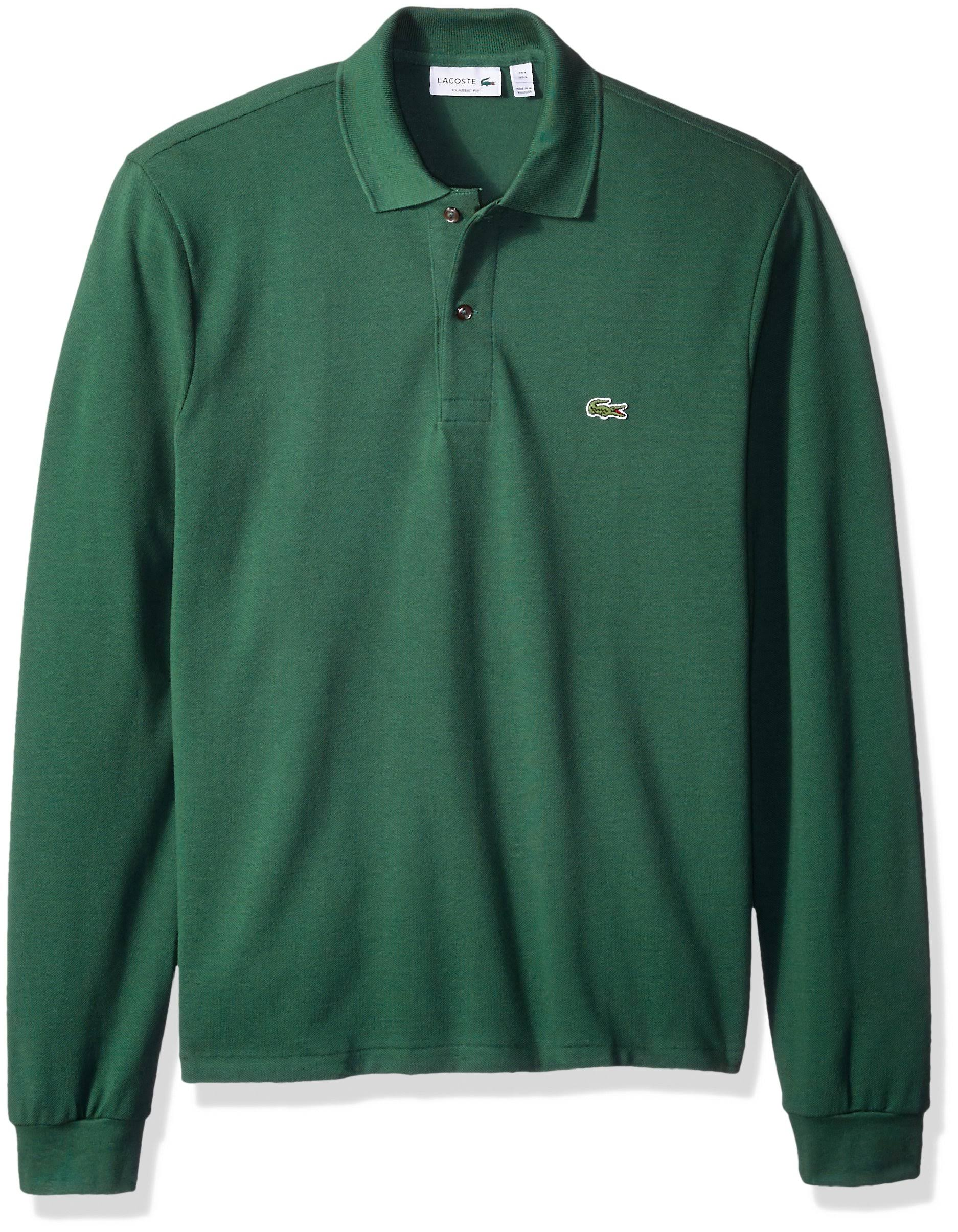 shirt Polo Lacoste Langärmliges Kelly Mit Pikee Green wqxPSEOx