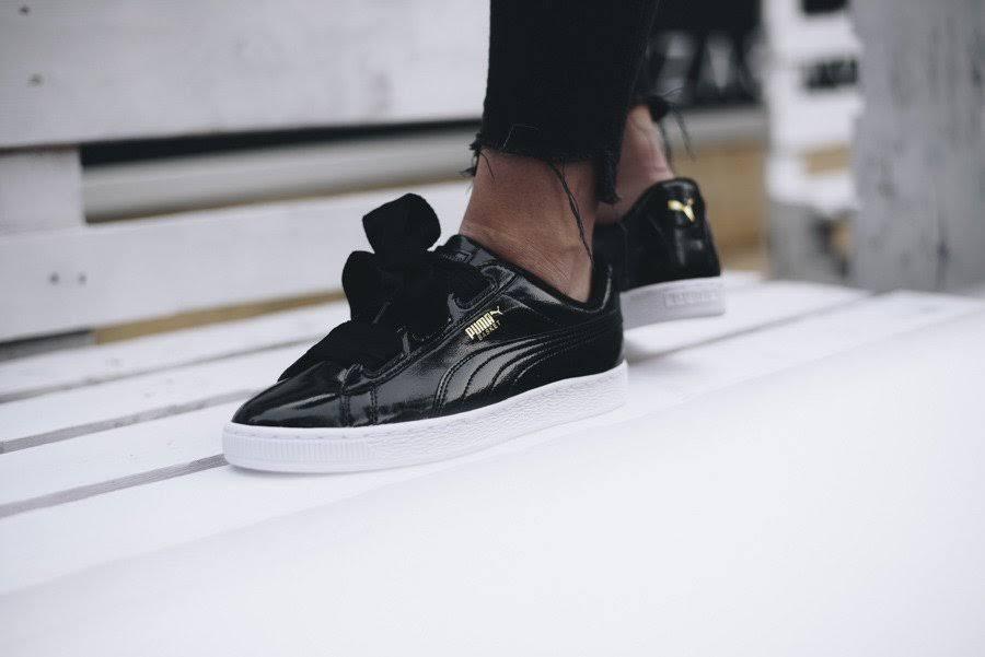 black Puma Basket Schwarz black 01 364917 Jr Heart Glam Zz0Fqw6zr