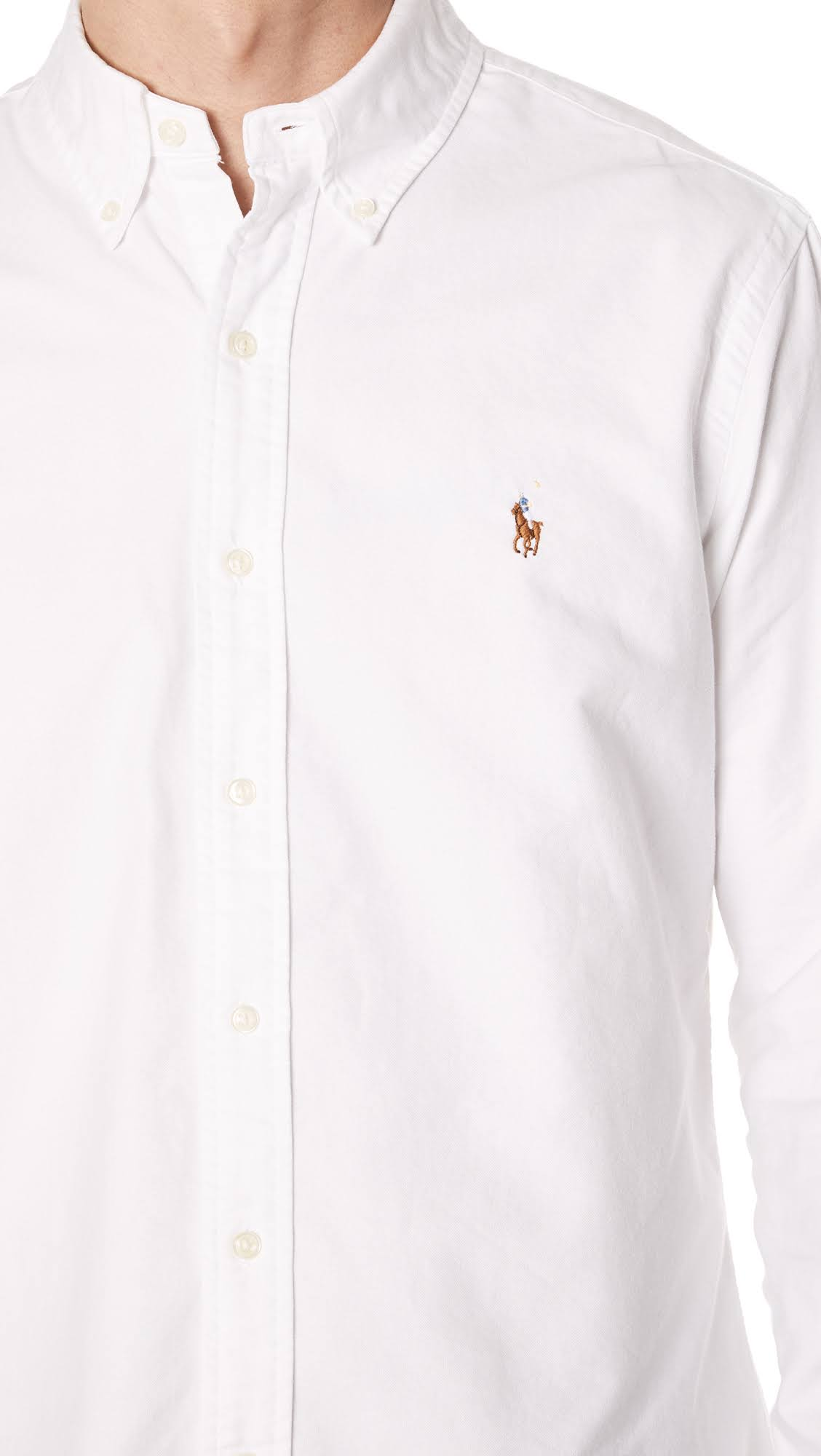 Ralph Blanca Oxford Polo Camisa Lauren R1wPwqBF