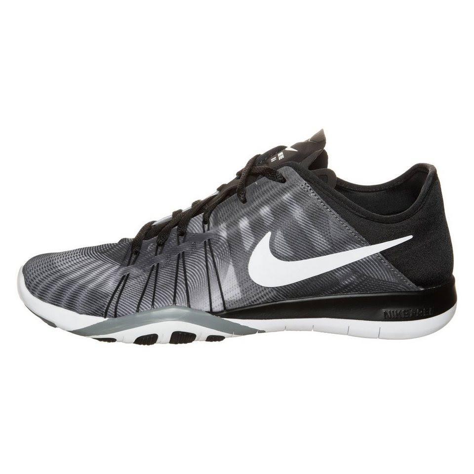 Tr Free Schwarz Nike grau 6 Damen Fitnessschuhe Print Pgxx5w1q
