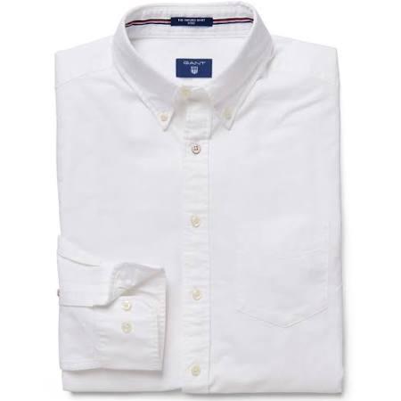 Fit Slim Oxford Herren Weiß Gant Weiß Shirt Groß E6TqWnPO