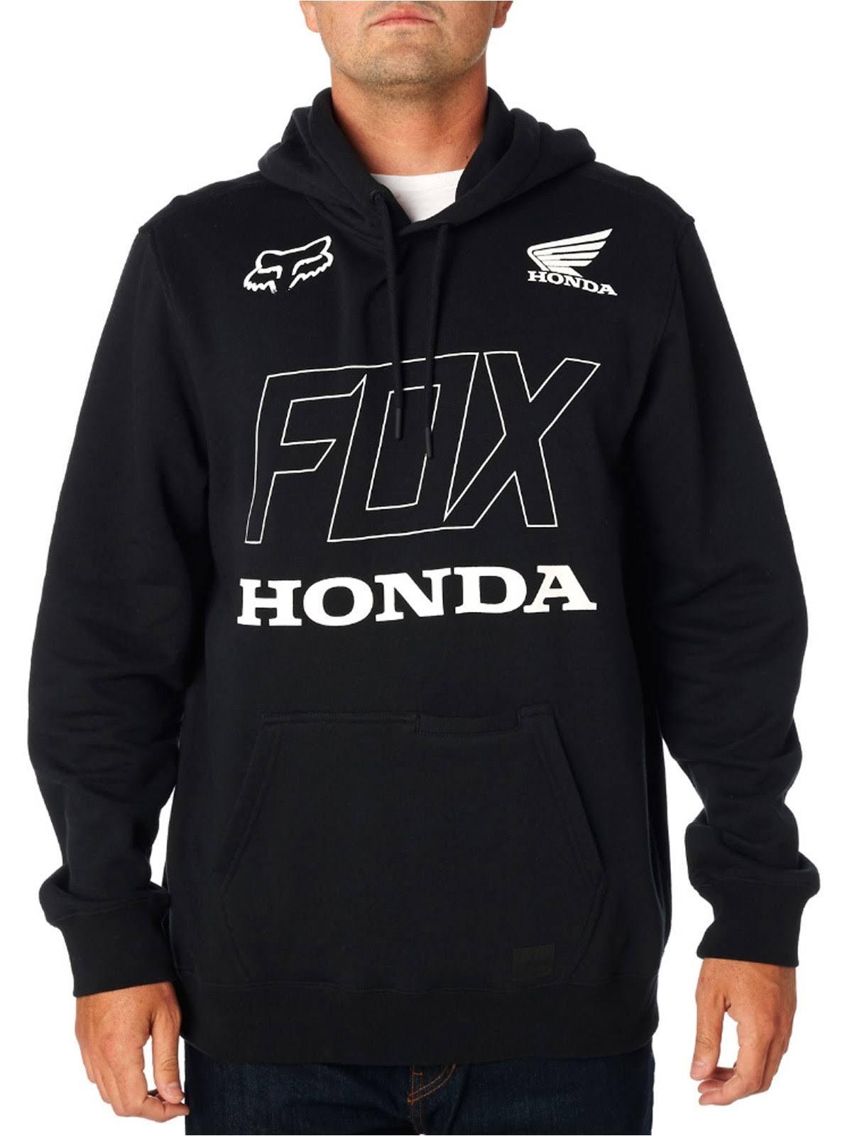 Fleece Fox Capucha Honda Negro Racing Sudadera Con n7TqBzwSXx